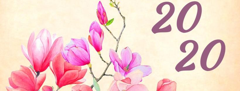 fleur avec écrit 2020 à côté